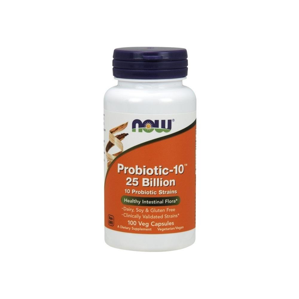 Probiotico Now Foods Probiotic-10 25 Bilhoes 100 Veg Cáps