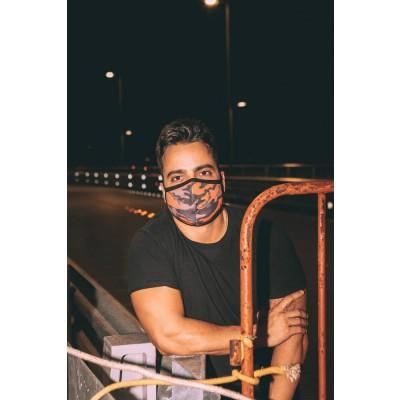 Máscara Lurk 109 Camuflado Laranja