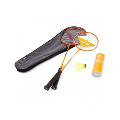 Kit Badminton Vollo 2 Raquetes 3 Petecas de Nylon